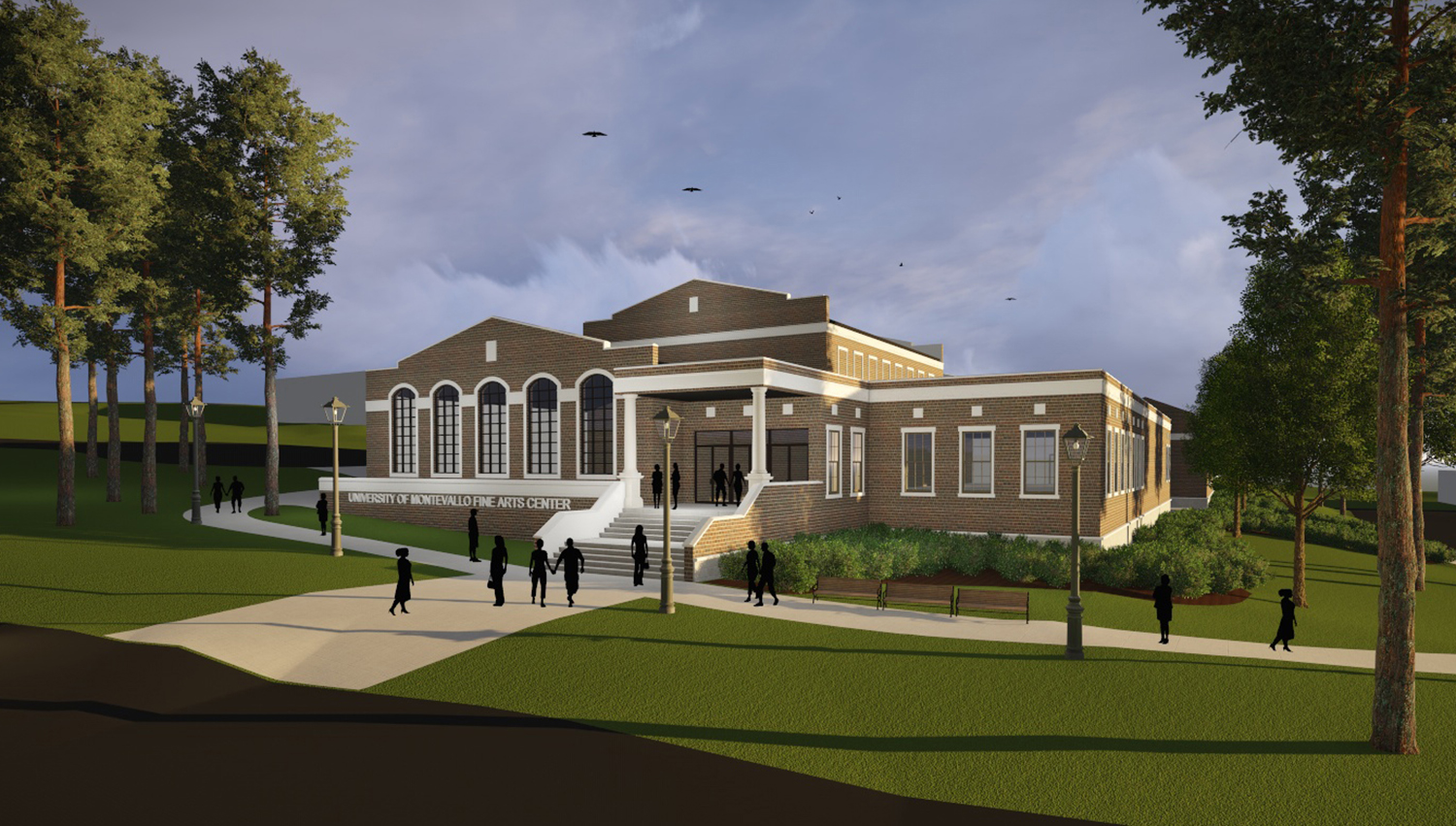 drawing of future Center for the Arts