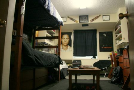 Inside of a room in Napier Hall