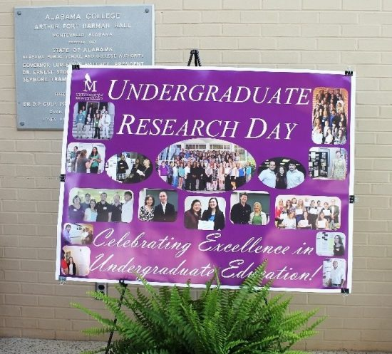Undergraduate Reaseach Day poster