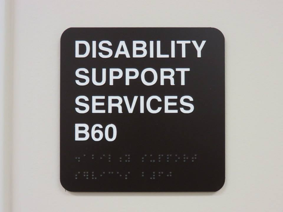 DSS sign with braille