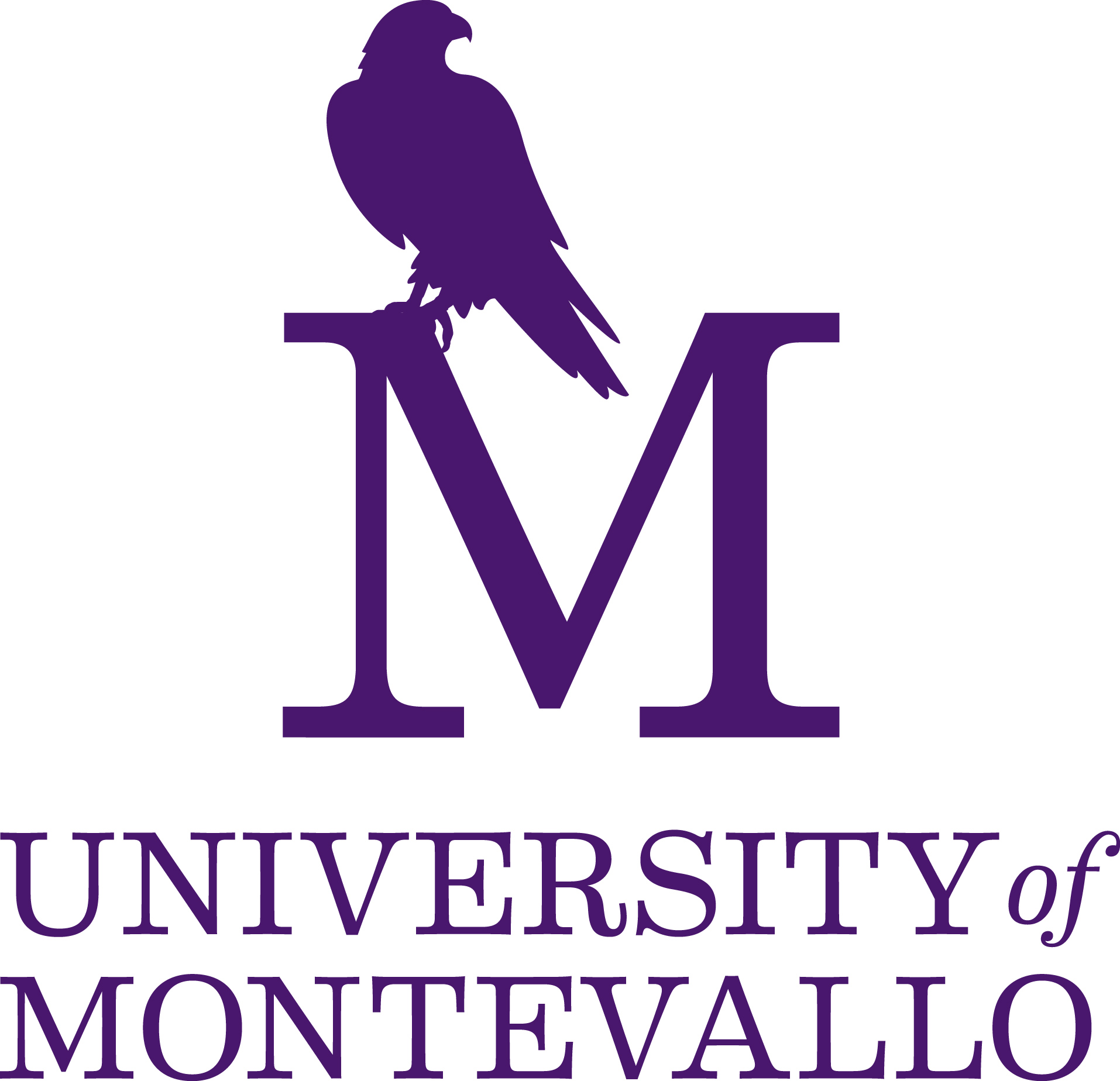 UM Logo white and purple