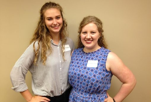 L to R: Savannah Willard and Mary-Haynes Furman are the first UM students to present at SALA's annual conference.