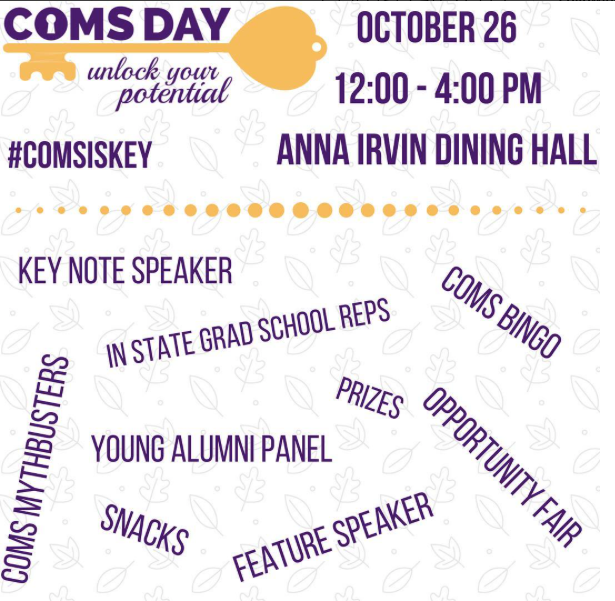 Coms Day 2017 event poster
