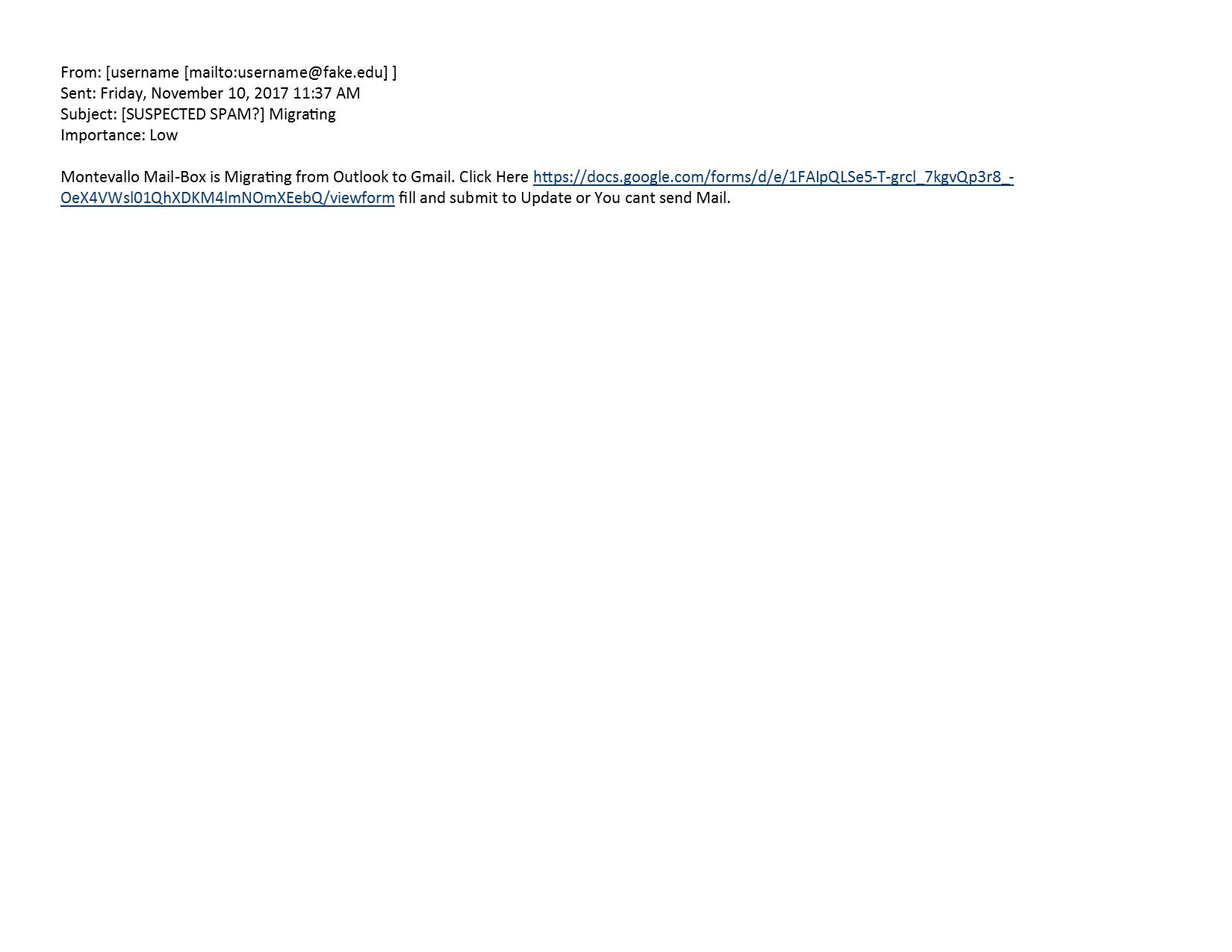 Phishing_11_10_17 - The University of Montevallo