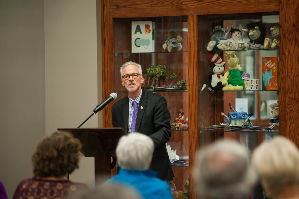 Dr. McDonald speaks at Special Collections dedication