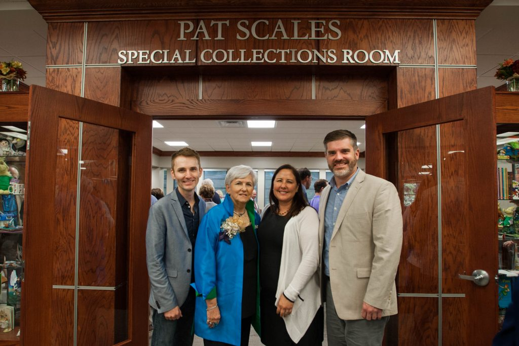 Pat Scales Special Collections Room dedication