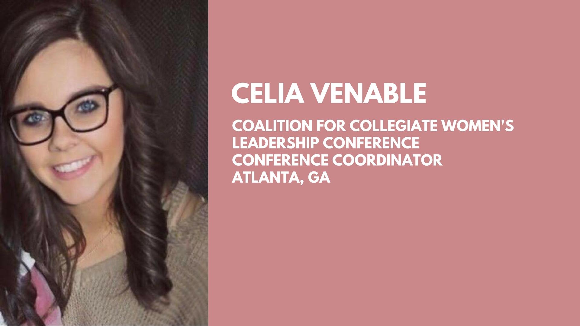 Celia Venable - Conference Coordinator