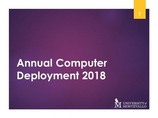 Annual Computer Deployment 2018