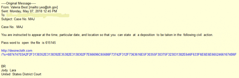 May 7th Phishing Email