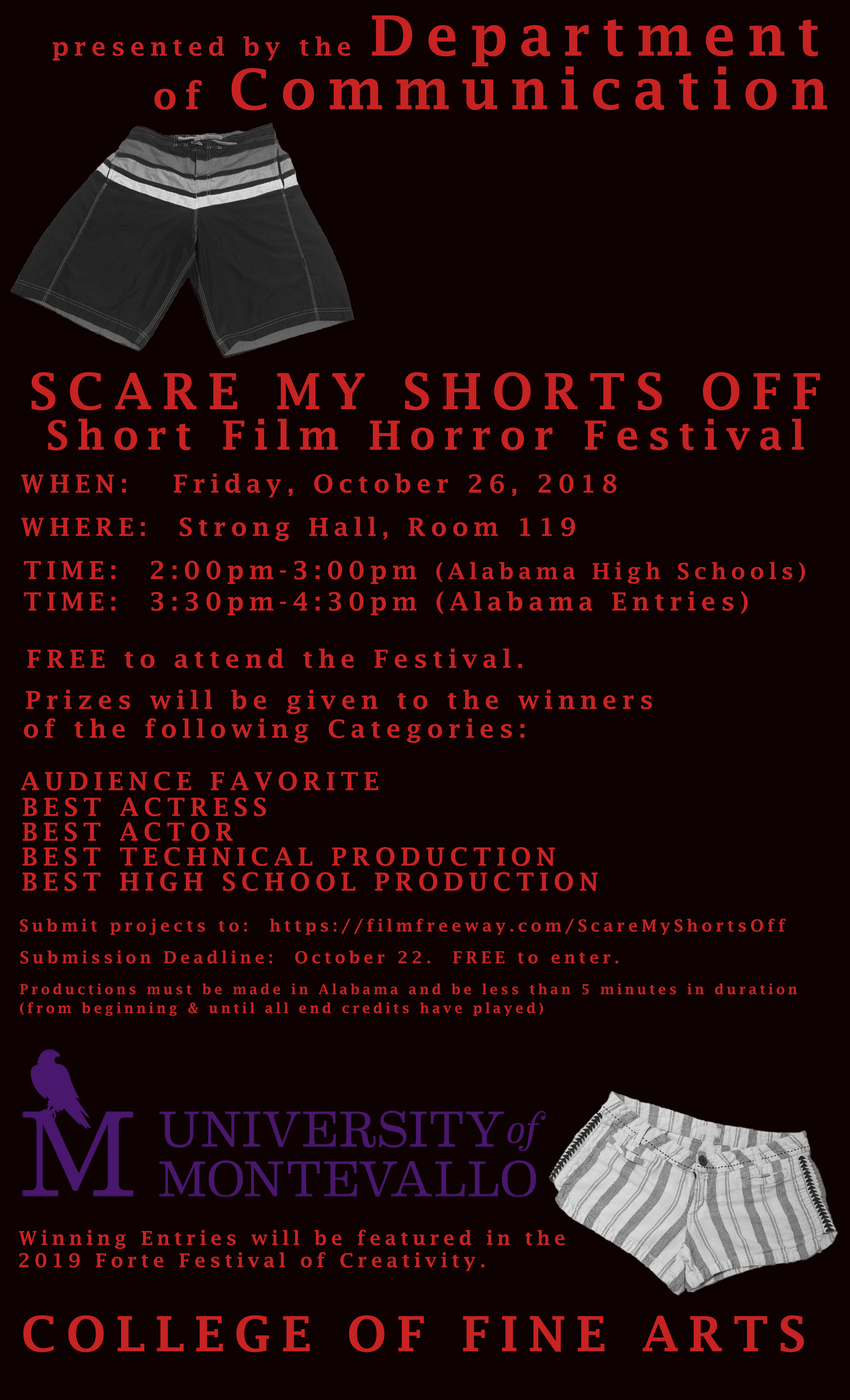 Scare My Shorts Off Flyer 2018