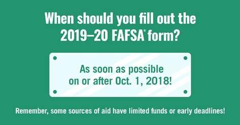 FAFSA 2019-20