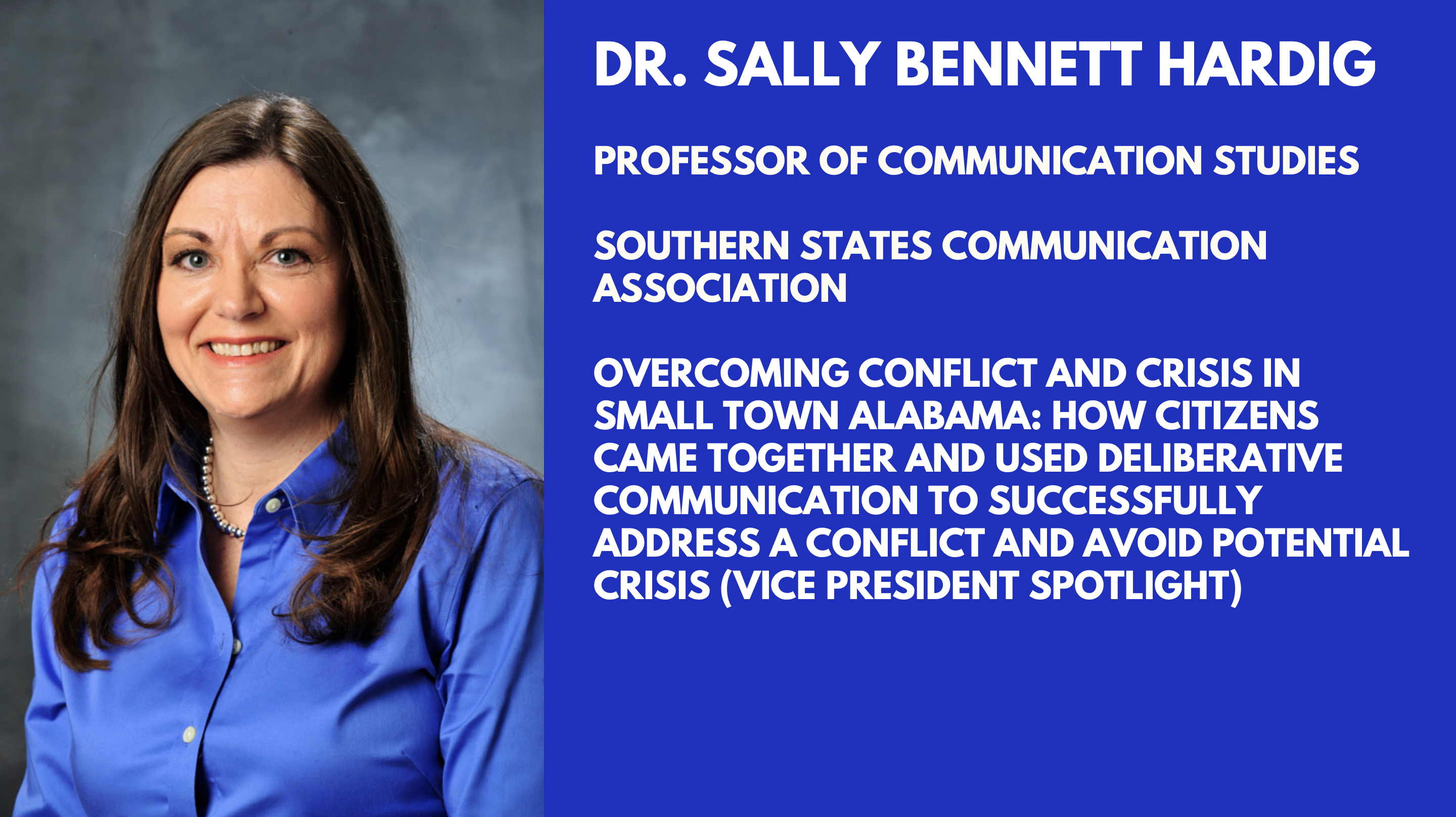 Dr. Sally Bennett Hardig will be presenting at SSCA 2019!