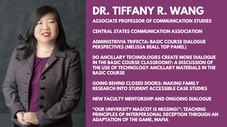 Dr. Tiffany R. Wang will be presenting at CSCA 2019!