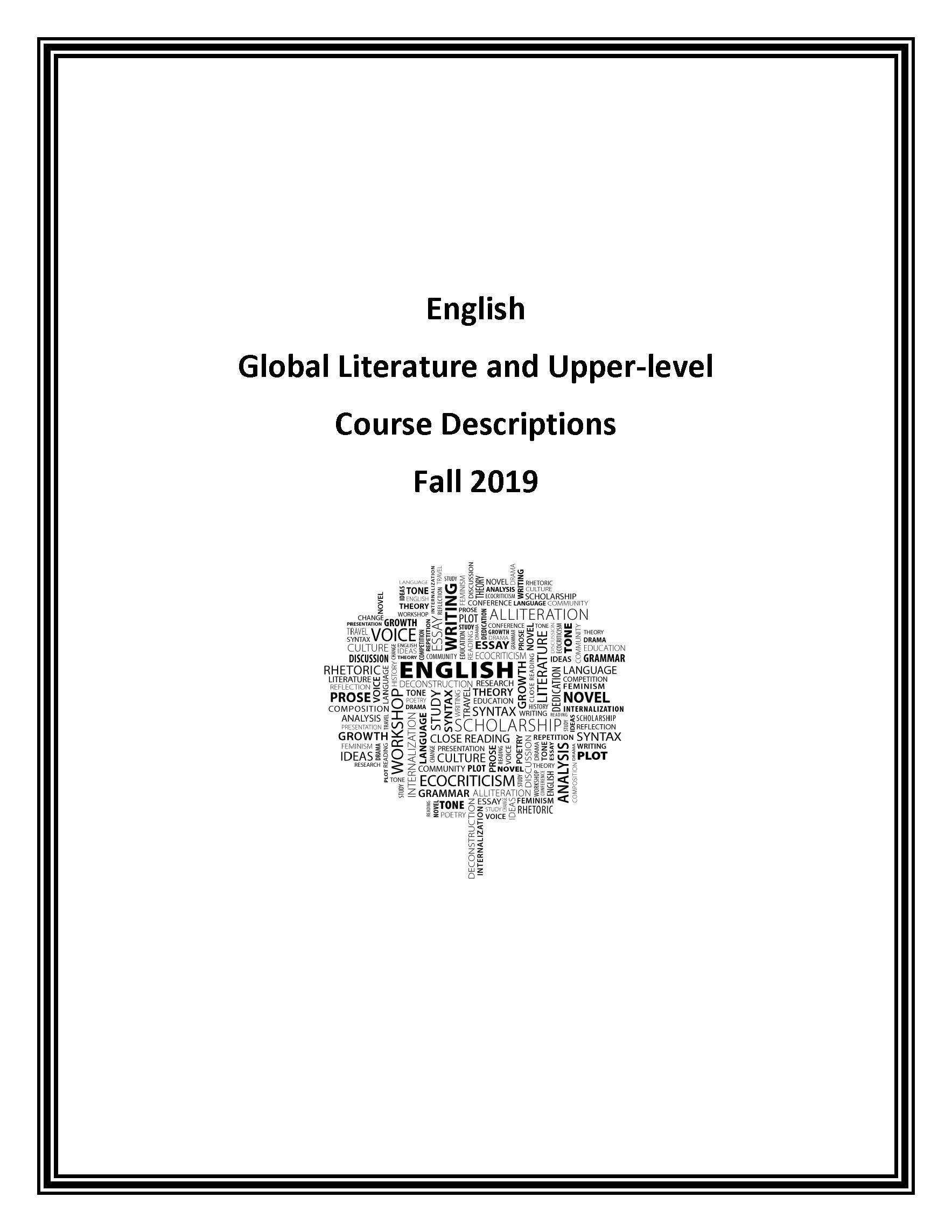 fall 2019 course descriptions