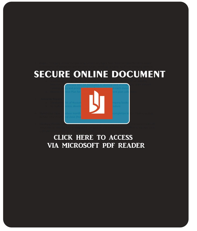 A falsified secure document download PDF cover