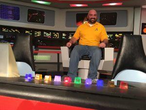 Dr. Finklea studying Star Trek fan films