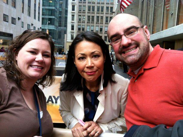 Dr. Finklea with Ann Curry from NBC News