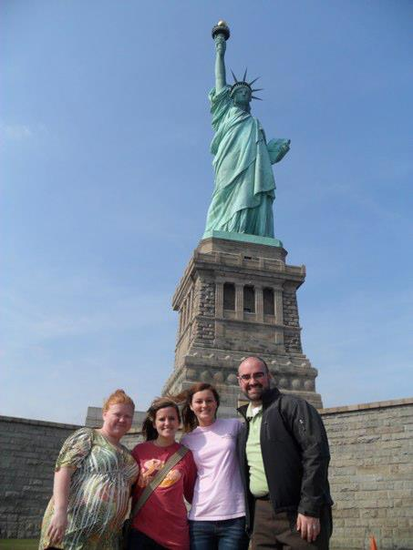 Dr. Finklea with NBS students in New York