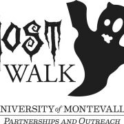Ghost Walk black and white logo.
