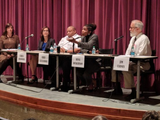 Fall 2019 Criminal Justice Reform Panel on stage