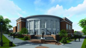 A rendering of what the new Center for the Arts will look like when completed.