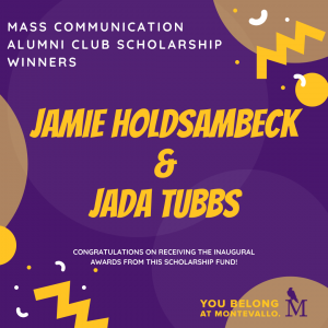 Jamie Holdsambeck and Jada Tubbs are announced as winners of this scholarship