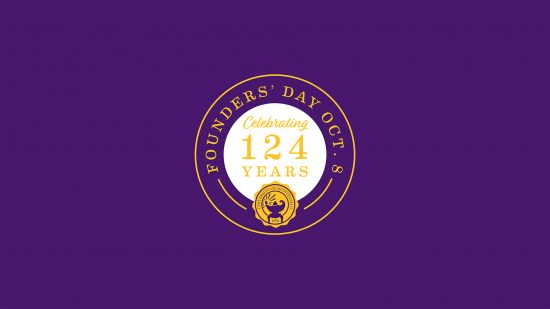 Desktop background Founders' Day Purple