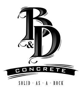 B&D Concrete logo