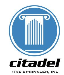 Citadel Fire Sprinkler logo
