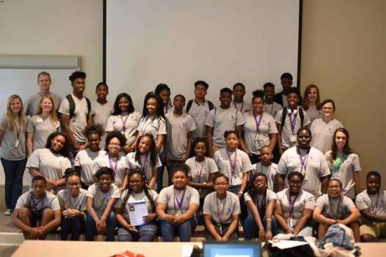 University of Montevallo coding camp attendees