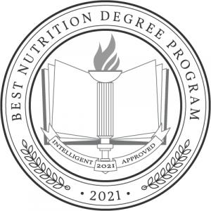 Best Nutrition Degree Program 2021 Badge