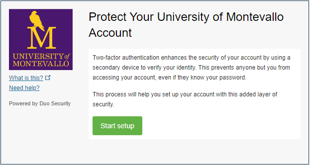 Two-factor Authentication Welcome Screen