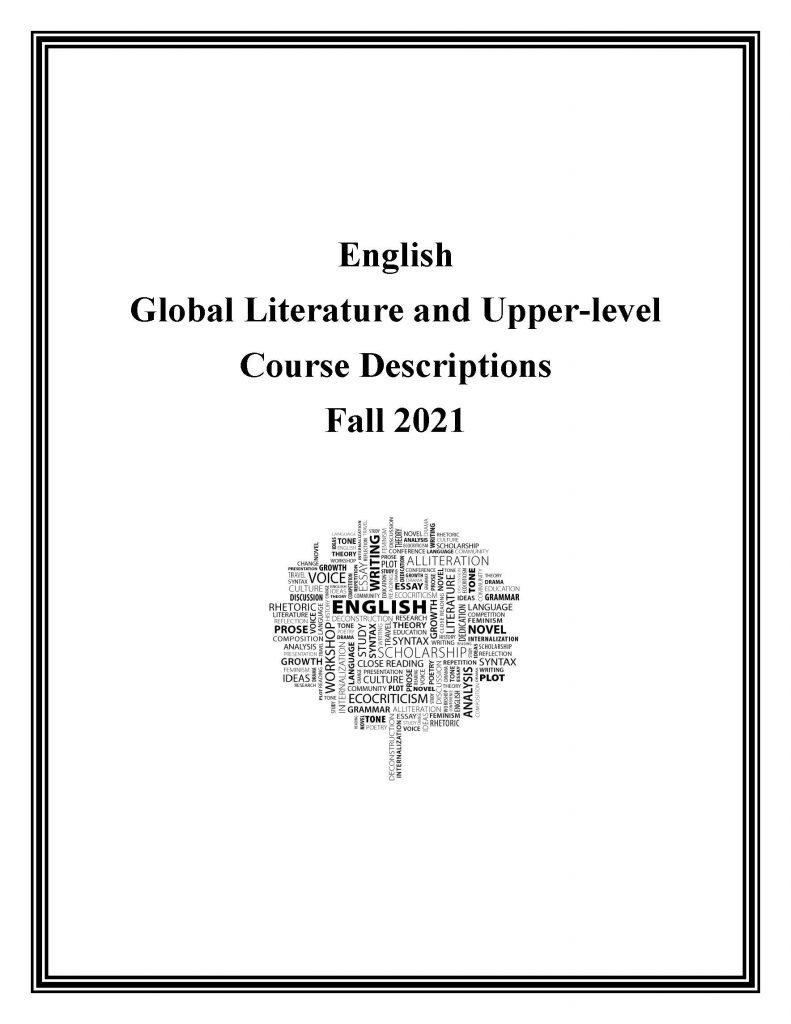 Fall 2021 English Course Descriptions