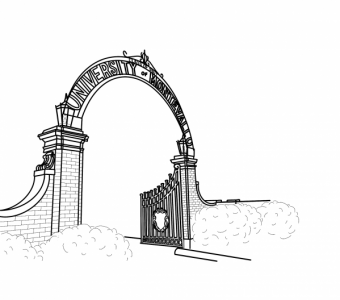 Gates coloring page