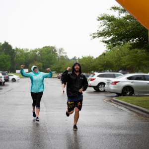 Runners participate in the Warrior Challenge on the UM campus.