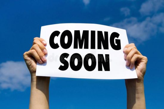 Photo of a Coming Soon sign.