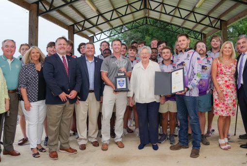 Fishing team honored