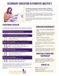 Secondary Education Alternative Master's Program Overview thumbnail.