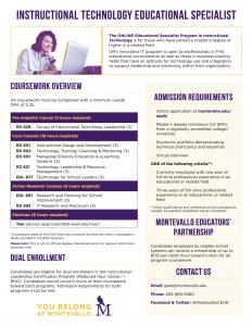 Instructional Technology Ed.S. Program Overview PDF thumbnail.