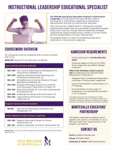 Instructional Leadership Ed.S. Program Overview PDF thumbnail.