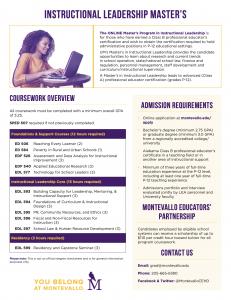Instructional Leadership Master's Program Overview PDF thumbnail.