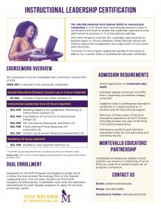 Instructional Leadership Certification Program Overview PDF thumbnail.