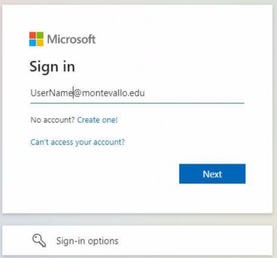 Microsoft Account Sign in welcome screen