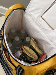 photo of inside cooler