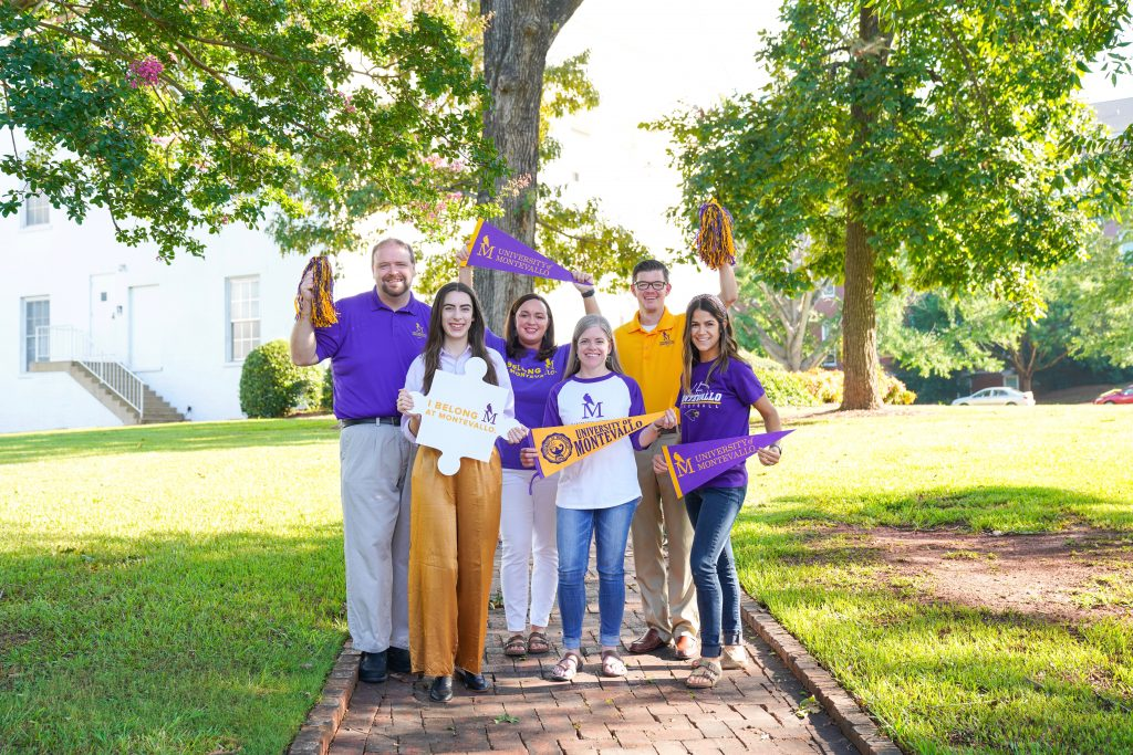 University of Montevallo Marketing & Communications staff members celebrating College Colors Day.